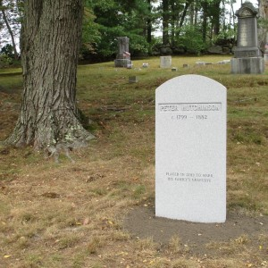 HutchinsonGravestone(by Tree).9 21 13