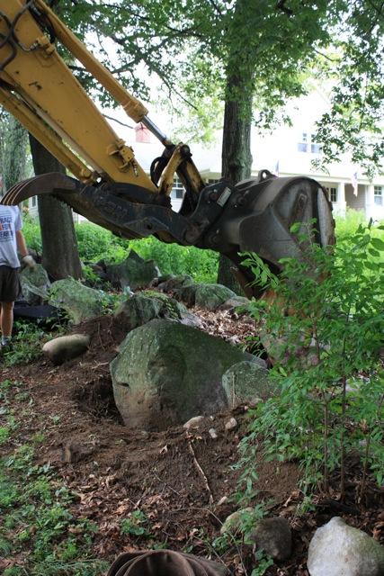 Brister Freeman home site stone