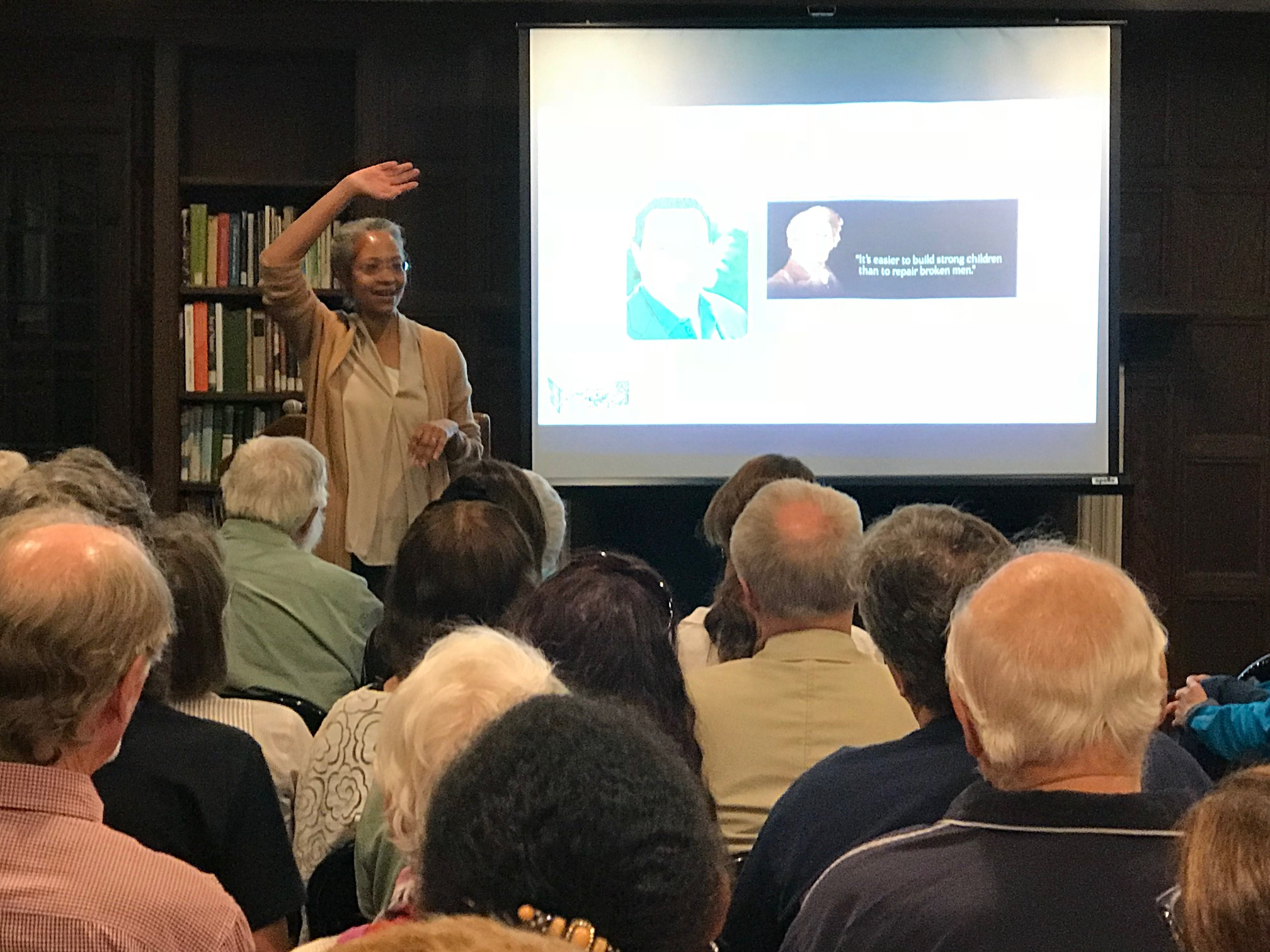 Maria Madison draws parallels between the journeys of Frederick Douglass and Concord's Ellen Garrison.