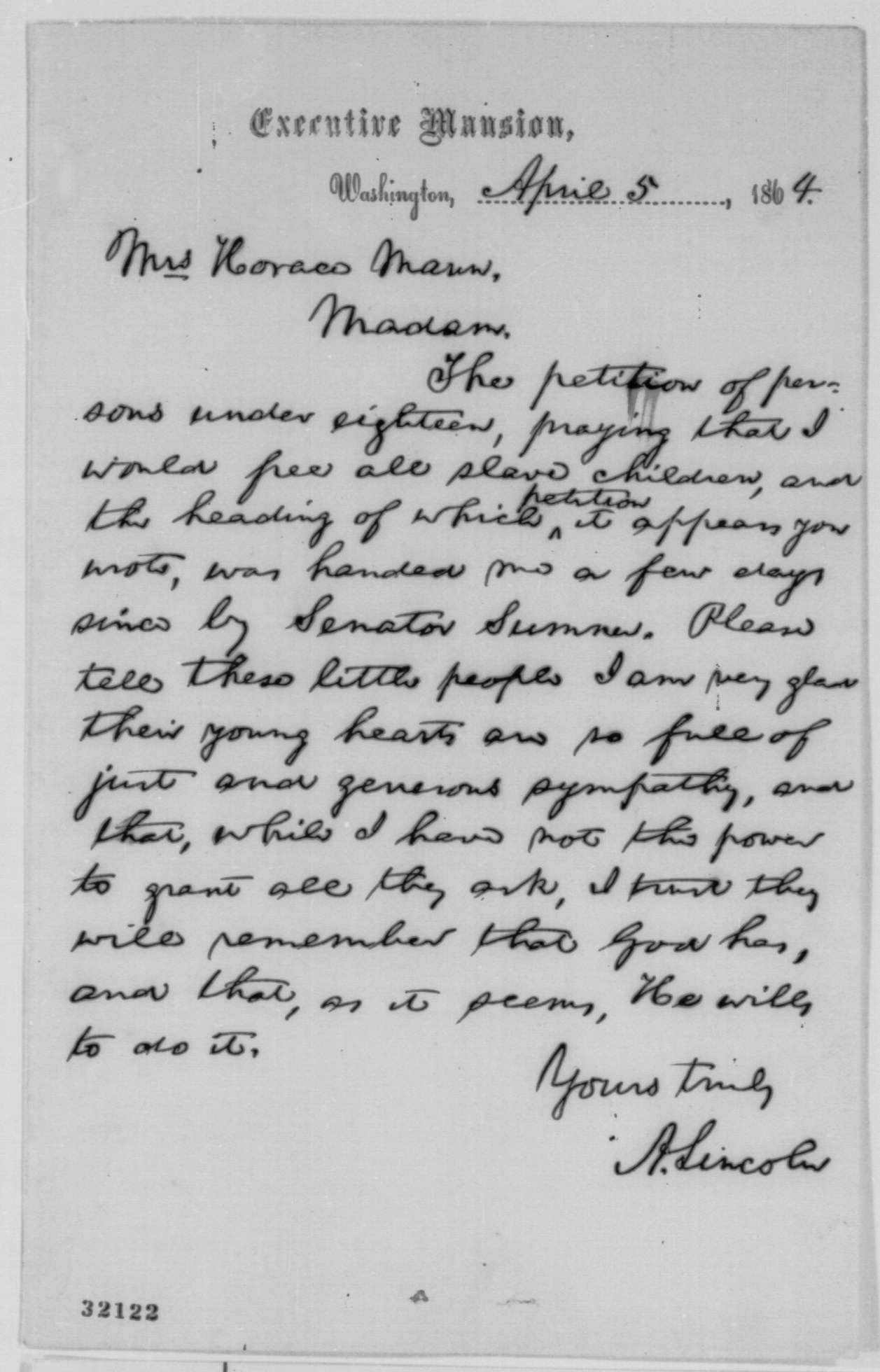 draft copy of little people's letter