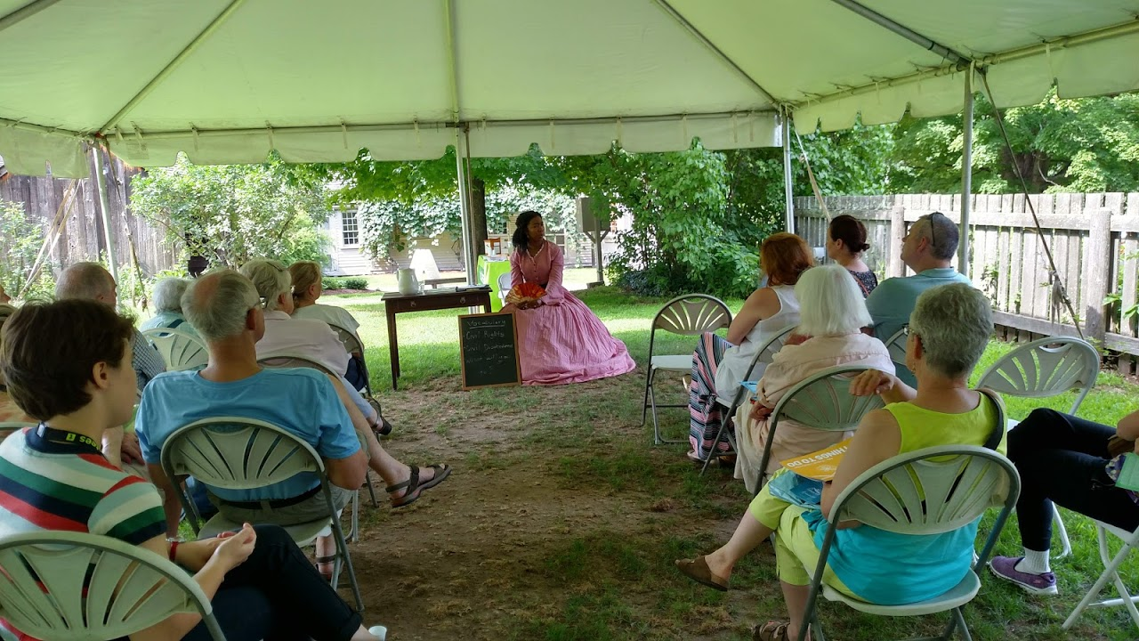 The Old Manse Summer Conversation Series Sponsors A Visit By Ellen Garrison, As Re-enacted By Elon Cook Lee