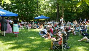 July 4th – Costumed Civil Rights Re-enactors And Visitors Read And Discuss Frederick Douglass's Speech On Independence